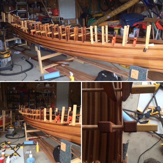 gluing of gunwales